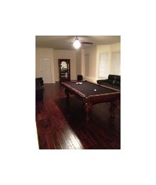 Hardwood Pool Room After