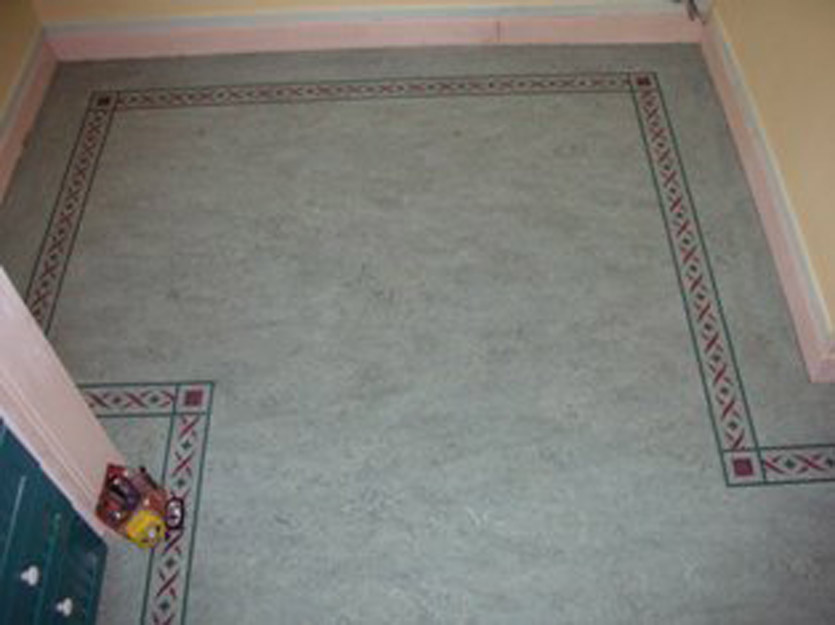 Linoleum Border Pattern Kitchen pic 2