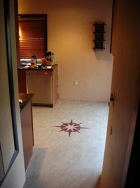 Linoleum Custom Patterned Kitchen