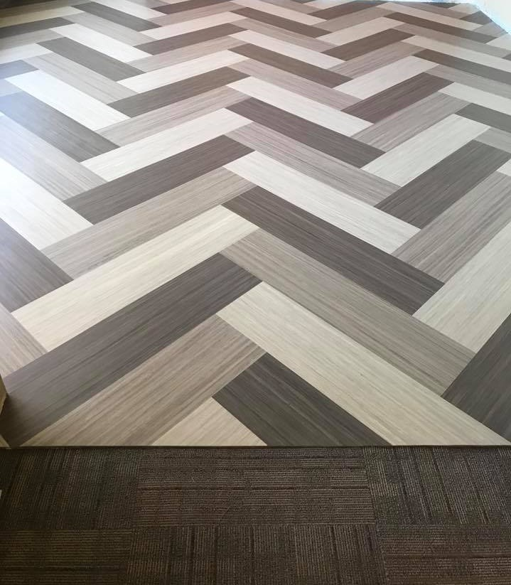 Linoleum Showroom Floor