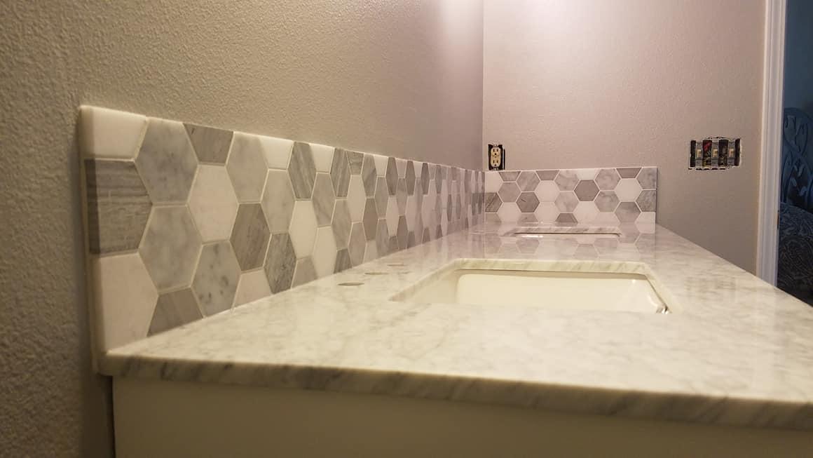 Tile Back Splash - Master Bath