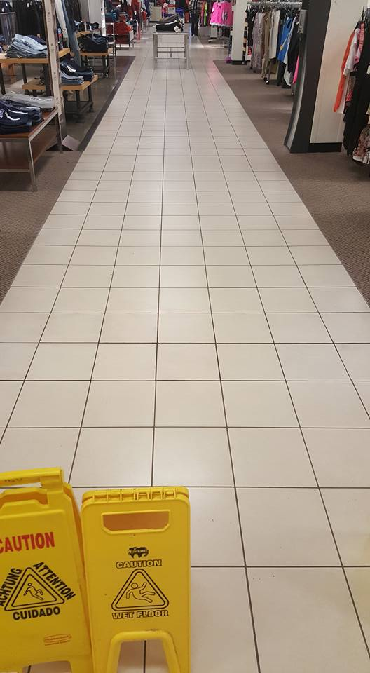 Tile Commercial Floor Repair - After