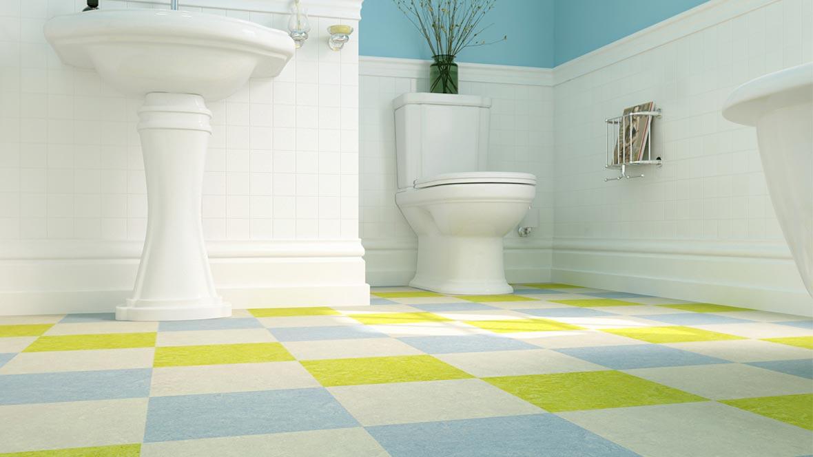 Marmoleum Click Cinch LOC 333224 Chartreuse, 333828 Blue Heaven, 333136 Concrete
